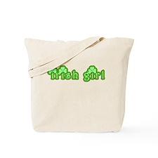 Cute Irish Girl with Shamrocks Tote Bag