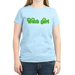 Cute Irish Girl with Shamrocks T-Shirt