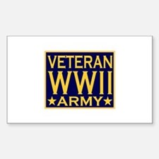 ARMY VETERAN WW II Rectangle Decal