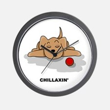 Chillaxin' Dog Wall Clock