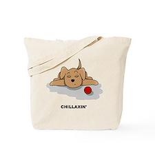 Chillaxin' Dog Tote Bag
