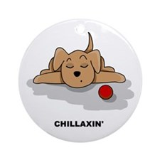Chillaxin' Dog Ornament (Round)
