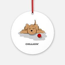 Chillaxin' Dog Ornament (Round)