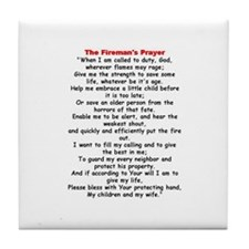 Fireman's Prayer Tile Coaster