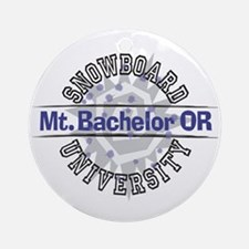 Snowboard Mt. Bachelor OR Ornament (Round)