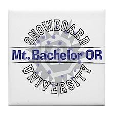 Snowboard Mt. Bachelor OR Tile Coaster