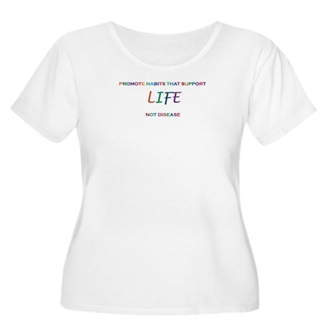 Promote Life Women's Plus Size Scoop Neck T-Shirt