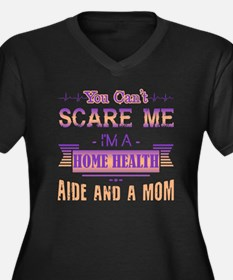 Unique Scare Women's Plus Size V-Neck Dark T-Shirt
