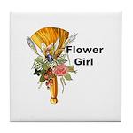 Jumping the Broom Flower Girl Tile Coaster