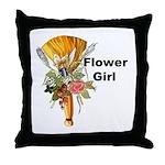 Jumping the Broom Flower Girl Throw Pillow