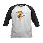 Jumping the Broom Flower Girl Kids Baseball Jersey