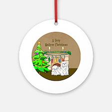A Very Maltese Christmas Ornament (Round)