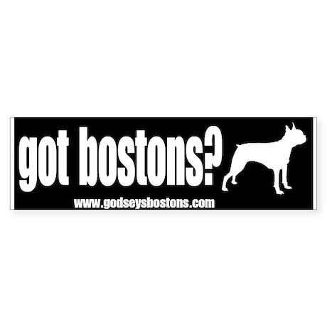 Got Bostons? Bumper Sticker