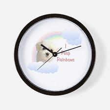 I Poop Rainbows Puppy Wall Clock