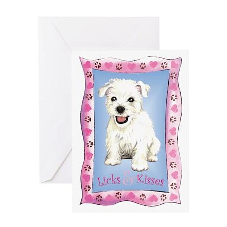 Westie Valentine Greeting Card