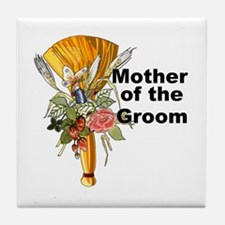 Jumping the Broom Mother of the Groom Tile Coaster