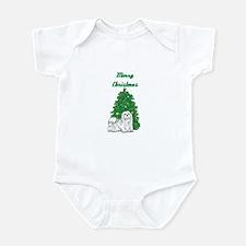 Merry Christmas Maltese Infant Bodysuit