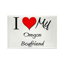 I Love My Oregon Boyfriend Rectangle Magnet