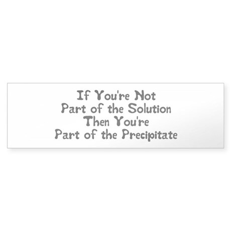 Part of the Solution Sticker (Bumper)