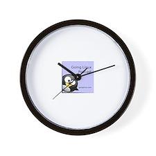 Cute Going linux album art Wall Clock