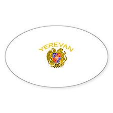 Yerevan, Armenia Oval Decal