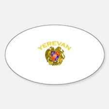 Yerevan, Armenia Oval Decal