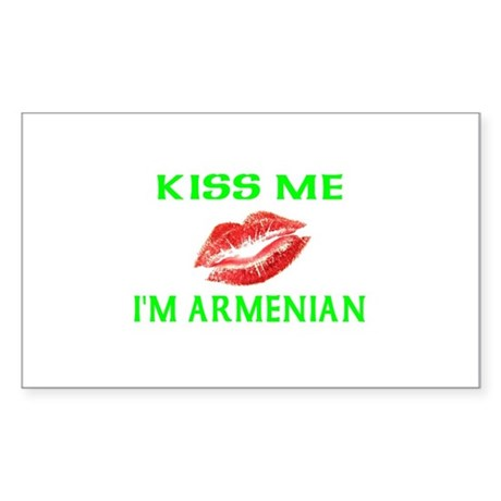 Kiss Me I'm Armenian Rectangle Sticker