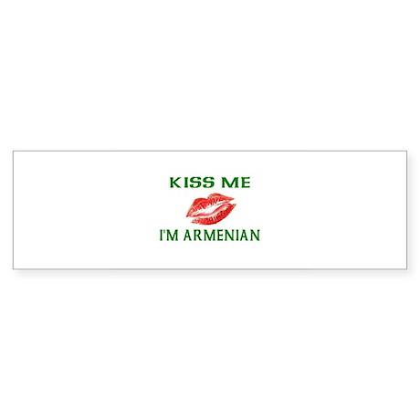 Kiss Me I'm Armenian Bumper Sticker