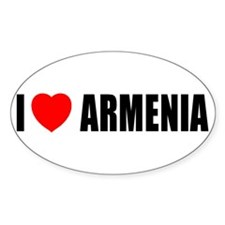 I Love Armenia Oval Decal