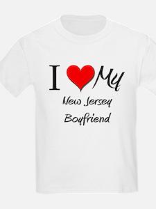 I Love My New Jersey Boyfriend T-Shirt