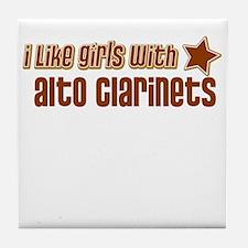 I Like Girls with Alto Clarin Tile Coaster