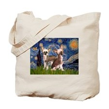 Starry Night / 2Chinese Crest Tote Bag