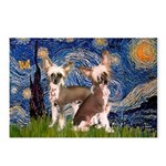 Starry Night / 2Chinese Crest Postcards (Package o
