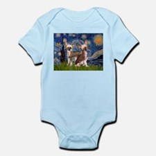 Starry Night / 2Chinese Crest Infant Bodysuit