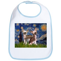 Starry Night / 2Chinese Crest Bib