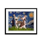 Starry Night / 2Chinese Crest Framed Panel Print