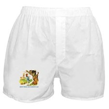 ALICE MEETS THE CHESHIRE CAT Boxer Shorts