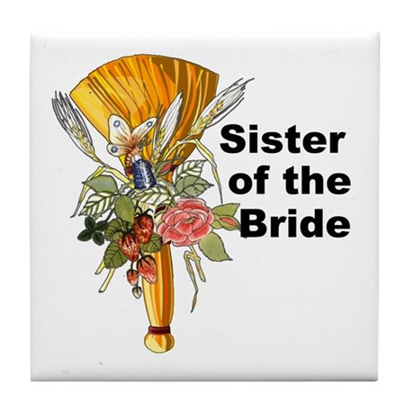 Jumping the Broom Sister of the Bride Tile Coaster