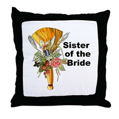 Jumping the Broom Sister of the Bride Throw Pillow