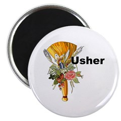 "Jumping the Broom Usher 2.25"" Magnet (100 pack)"