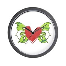Angel Wings by Leah Wall Clock