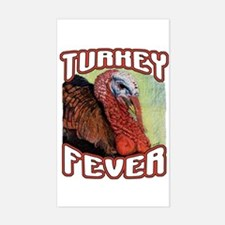 Turkey Fever Rectangle Decal