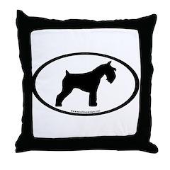 Mini Schnauzer Oval Throw Pillow