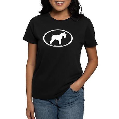 Mini Schnauzer Oval Women's Dark T-Shirt