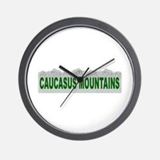 Caucasus Mountains Wall Clock