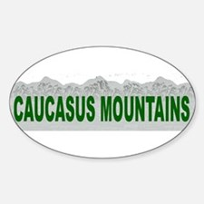 Caucasus Mountains Oval Decal