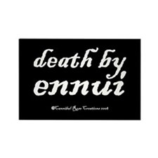 Death By Ennui/black Rectangle Magnet