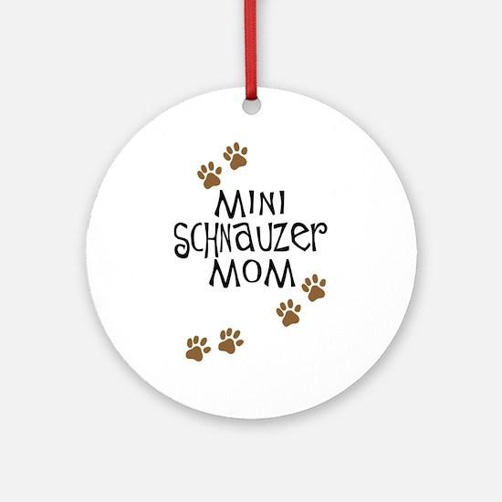 Mini Schnauzer Mom Ornament (Round)