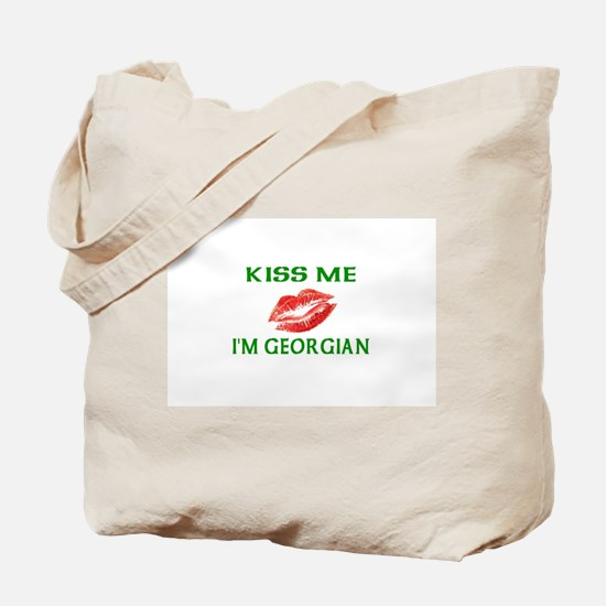 Kiss Me I'm Georgian Tote Bag