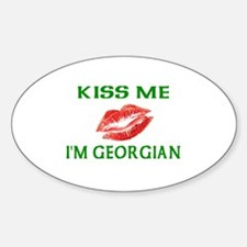 Kiss Me I'm Georgian Oval Decal